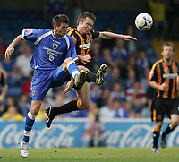 Photo: Lee Earle.<br /> Cardiff City v Hull City. Coca Cola Championship. 28/04/2007.Hull's Nick Barmby (R) battles with Joe Ledley.