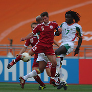 Denmark's Jan Heinze tackled by Senegal's Ferdinand Coly