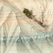 Colors of clay formation, Erosion effect, Le ravin de Corboeuf, Rosières, Haute Loire, Auvergne Rhône Alpes, France