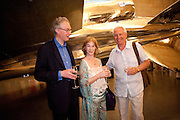 CHARLES CHOLMONDELEY; SHIRLEY ANNE FIELD;  BARRY MARTIN; , Tate Summer Party. Celebrating the opening of the  Fiona Banner. Harrier and Jaguar. Tate Britain. Annual Duveens Commission 29 June 2010. -DO NOT ARCHIVE-© Copyright Photograph by Dafydd Jones. 248 Clapham Rd. London SW9 0PZ. Tel 0207 820 0771. www.dafjones.com.