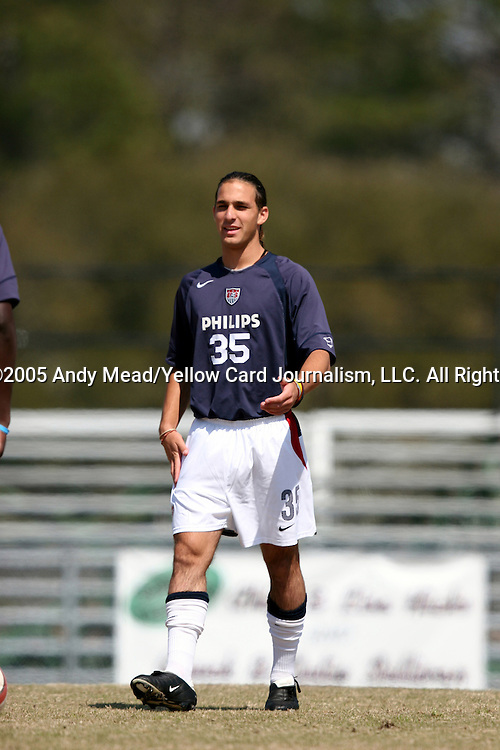 20 March 2005: Andrew Giallombardo. The United States Under 17 National Team lost 2-0 to Wake Forest University in a friendly game played at UNCW Soccer Stadium in Wilmington, NC..