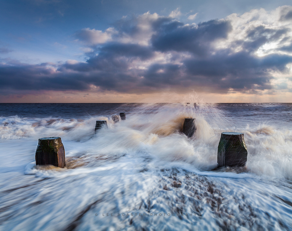 More wet feet between Corton and Lowestoft in the morning light on Friday