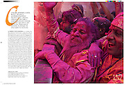 Conde Nast Traveler.  (Italy). Reportage on Holi Festival in India