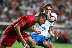 September 10, 2018 - Lisbon, Portugal - Portugal's defender Ruben Dias (L) vies with Italy's forward Federico Chiesa during the UEFA Nations League A group 3 football match Portugal vs Italy at the Luz stadium in Lisbon, Portugal on September 10, 2018. (Credit Image: © Pedro Fiuza/NurPhoto/ZUMA Press)
