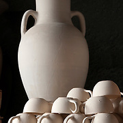 Unfired pottery in Fes, Morocco