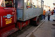 Truck bus in Cardenas, Matanzas, Cuba.