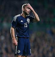 Scotland's James Morrison in action<br /> <br /> - International Friendly - Scotland vs England- Celtic Park - Glasgow - Scotland - 18th November 2014  - Picture David Klein/Sportimage