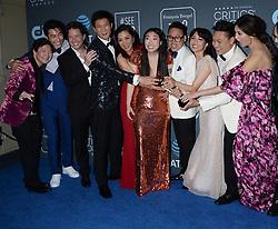 24th Annual Critics Choice Awards - Press Room. 13 Jan 2019 Pictured: Ken Jeong, Nico Santos, Awkwafina, Michelle Yeoh, Constance Wu, Gemma Chan, Harry Shum Jr. Photo credit: TPI/MEGA TheMegaAgency.com +1 888 505 6342