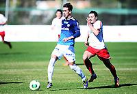 Fotball , 27. januar 2014 , Privatkamp ,Strømsgodset - FC Costuleni 4-0<br /> Gustav Wikheim , SIF<br /> Pacome Kouadio , Cos