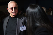 Robert Ende talks with others during the Silicon Valley Business Journal's Women of Influence event at the Fairmont San Jose in San Jose, California, on May 16, 2019. (Stan Olszewski for Silicon Valley Business Journal)