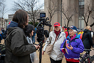 Two Trump supporters are interviewed the morning of the Presidential Inauguration.<br />