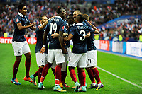 Players of France celebrate their 1st goal scored by Karim Benzema during the International friendly game 2014 football match between France and Portugal on October 11, 2014 at Stade de France in Saint Denis, France. Photo Jean Marie Hervio / Regamedia / DPPI