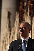 6 January 2010- New York,  NY- U.S. Attorney General Eric Holder at the Percy Ellis Sutton Funeral held at The Riverside Church on January 6, 2010 in New York City. Photo Credit: Terrence Jennings/Sipa