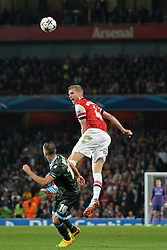LONDON, ENGLAND - Oct 01: Arsenal's defender Per Mertesacker from Germany during the UEFA Champions League match between Arsenal from England and Napoli from Italy played at The Emirates Stadium, on October 01, 2013 in London, England. (Photo by Mitchell Gunn/ESPA)