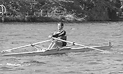 Kingston on Thames, United Kingdom. Men's Single Scull  M1X. Thames RC.   The final Round of the Leyland Daf Sprint series, at Kingston RC on the River Thames, Surrey, England, <br /> <br /> Saturday 04.05.1987<br /> <br /> [Mandatory Credit; Peter Spurrier/Intersport-images] 1987 Leyland Daf Sprints, Kingston. UK