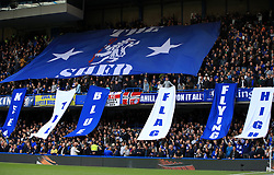 Chelsea fans in the Shed End at Stamford Bridge