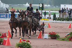 Chester Weber, (USA), Boris W, Boy W, Para, Splash, Uniek - Driving Cones - Alltech FEI World Equestrian Games™ 2014 - Normandy, France.<br /> © Hippo Foto Team - Dirk Caremans<br /> 07/09/14