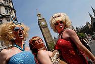 UK. London. Europride 2006 Gay parade through central London.