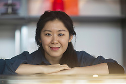 Portrait of a young waitress at coffee shop counter, Freiburg Im Breisgau, Baden-w¸rttemberg, Germany