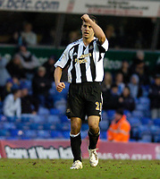 Photo: Leigh Quinnell.<br /> Birmingham City v Newcastle United. The FA Cup. 06/01/2007. Steven Taylor celebrates his goal for Newcastle.