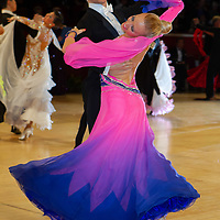 James Prouton & Kelly Lemasurier from Great Britain perform their dance during the professional ballroom competition at the International Championships held in Royal Albert Hall in London, United Kingdom on Thursday, 21. October 2010. ATTILA VOLGYI