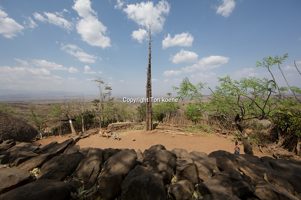 konso village in Ethiopia