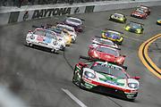 January 24-27, 2019. IMSA Weathertech Series ROLEX Daytona 24. Start of the 57th Daytona 24 #67 Ford Chip Ganassi Racing Ford GT, GTLM: Ryan Briscoe, Richard Westbrook, Scott Dixon