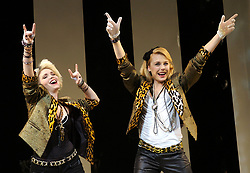 Desperately Seeking Susan<br /> Novello Theatre<br /> press photocall<br /> 12th November 2007<br /> <br /> Emma Williams (as Susan) ; Kelly Price (as Roberta Glass)<br /> <br /> Photograph by Elliott Franks