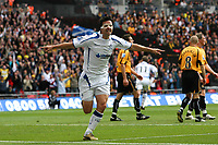 Tim Sills (Torquay United) celebrates scoring<br /> Cambridge United vs Torquay United<br /> Blue Square Premier Play-Off Final at Wembley Stadium 17/05/2009<br /> Credit Colorsport / Shaun Boggust