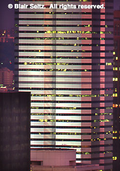 One Oxford Centre, Pittsburgh, PA, Architectural Detail, Night Megawatt Lighting, Main Tower