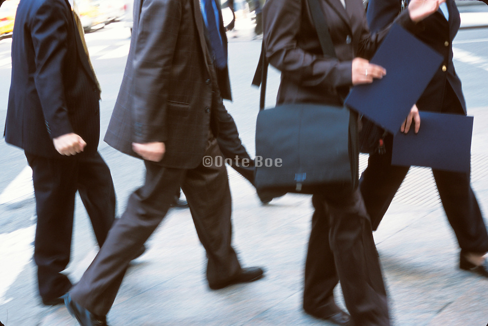 business people rushing on NY streets