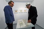 """Neufelden, Austria. HEIM.ART®-Station by Joachim Eckl (l.)<br /> Exhibition """"Zeichen der Erinnerung (Signs of Memory)"""".<br /> Pictures from Egypt by Karl-Heinz Tritschler (r.)"""