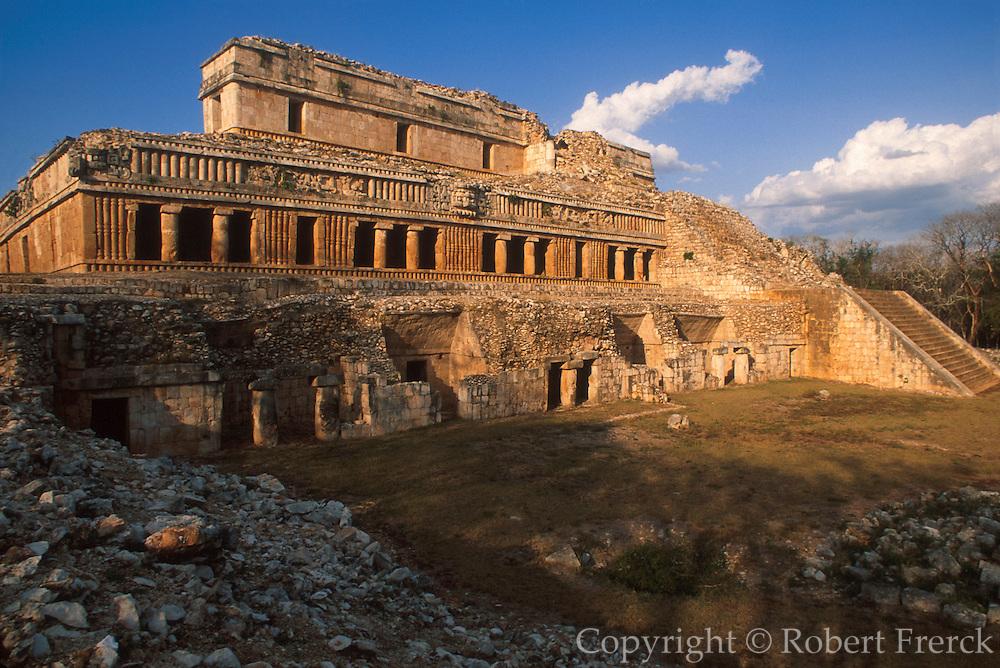 MEXICO, MAYAN, YUCATAN Sayil; El Palacio in Puuc style