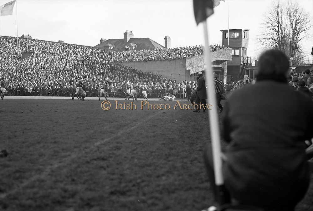 Irish Rugby Football Union, Ireland v Scotland, Five Nations, Landsdowne Road, Dublin, Ireland, Saturday 26th February, 1966,.26.2.1966, 2.26.1966,..Referee- D M Hughes, Welsh Rugby Football Union, ..Score- Ireland 3 - 11 Scotland, ..Irish Team, ..T J Kiernan,  Wearing number 15 Irish jersey, Full Back, Cork Constitution Rugby Football Club, Cork, Ireland,..W R Hunter, Wearing number 14 Irish jersey, Right Wing, C I Y M S Rugby Football Club, Belfast, Northern Ireland, ..M K Flynn, Wearing number 13 Irish jersey, Right Centre, Wanderers Rugby Football Club, Dublin, Ireland, ..J C Walsh,  Wearing number 12 Irish jersey, Left Centre, Sundays Well Rugby Football Club, Cork, Ireland, ..P J McGrath,  Wearing number 11 Irish jersey, Left Wing, University college Cork Rugby Football Club, Cork, Ireland,  ..C M H Gibson, Wearing number 10 Irish jersey, Stand Off, Cambridge University Rugby Football Club, Cambridge, England, and, N.I.F.C, Rugby Football Club, Belfast, Northern Ireland, ..R M Young, Wearing number 9 Irish jersey, Scrum Half, Queens University Rugby Football Club, Belfast, Northern Ireland,..R A Lamont, Wearing number 8 Irish jersey, Forward, Instonians Rugby Football Club, Belfast, Northern Ireland, ..M G Doyle, Wearing number 7 Irish jersey, Forward, Cambridge University Rugby Football Club, Cambridge, England,..N Murphy, Wearing number 6 Irish jersey, Forward, Cork Constitution Rugby Football Club, Cork, Ireland,..O C Waldron, Wearing number 5 Irish jersey, Forward, Oxford University Rugby Footabll Club, Oxford, England, ..W J McBride, Wearing number 4 Irish jersey, Forward, Ballymena Rugby Football Club, Antrim, Northern Ireland,..R J McLoughlin, Wearing number 3 Irish jersey, Captain of the Irish team, Forward, Gosforth Rugby Football Club, Newcastle, England, ..K W Kennedy, Wearing number 2 Irish jersey, Forward,  C I Y M S Rugby Football Club, Belfast, Northern Ireland, ..S MacHale, Wearing number 1 Irish jersey, Forward, Landsdowne Rugby Football Club,