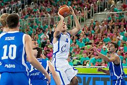 Julian Gualtieri (team white) of San Marino during basketball match U18 All Star Game 2013 at Day 18 of Eurobasket 2013 on September 21, 2013 in SRC Stozice, Ljubljana, Slovenia. (Photo By Urban Urbanc / Sportida)