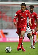 Jamal Musiala #42 von FC Bayern Muenchen, Einzelaktion During the Bayern Munich vs SC Freiburg Bundesliga match  at Allianz Arena, Munich, Germany on 20 June 2020.