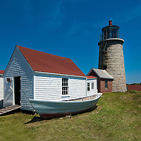 Monhegan Island Maine Lighthouse and Museum, located at the highest point of the island. July 5, 2010