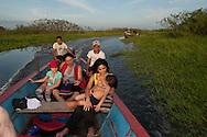 Visiting Cienaga de Pjino by boat