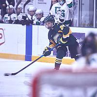 1st year forward, Adela Juzkova (24) of the Regina Cougars during the Women's Hockey Away Game on Fri Jan 11 at University of Saskatoon. Credit: Arthur Ward/Arthur Images