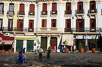 Maroc, Tanger, la medina, rue Almanzor // Morocco, Tangier (Tanger), Almanzor street on the old city