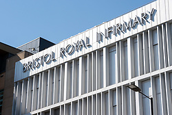 © Licensed to London News Pictures; 26/03/2020; Bristol, UK. Coronavirus Pandemic; General views of the Bristol Royal Infirmary hospital in the centre of Bristol, during the lockdown. Photo credit: Simon Chapman/LNP.