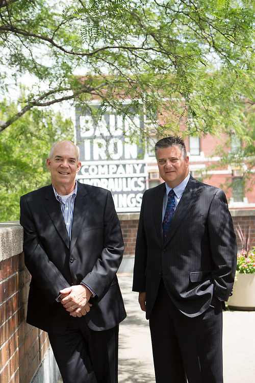 13 August 2013- David Brown and Terry Kroeger are photographed at The Omaha Chamber.