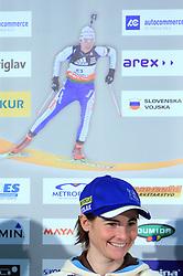 Andreja Mali at press conference of Slovenian Biathlon National Team before new season 2008/2009, on November 24, 2008 in Emporium, BTC, Ljubljana, Slovenia.  (Photo by Vid Ponikvar / Sportida)