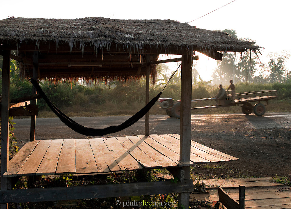 A hammock on the roadside near the temples of Koh Ker, northern Cambodia