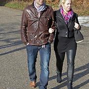 NLD/Amsterdam/20120127 - Uitvaart Jeroen Soer, Margje Teeuwen en partner Rob Stenders