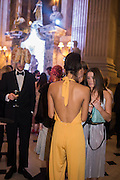TIM TYLER-SMYTH; PRIYANKA VIRMGAMA;  BEATRICE HOWE, Ball at to celebrateBlanche Howard's 21st and  George Howard's 30th  birthday. Dress code: Black Tie with a touch of Surrealism. Castle Howard. Yorkshire. 14 November 2015