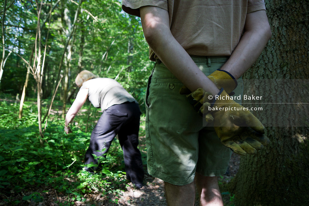 Volunteer Buddhists on working retreat at the Rivendell Buddhist Retreat Centre, East Sussex, England.