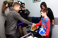 Getafe CF's Francisco Portillo during the Christmas visit to the Children's Hospital of the city. December 12,2017. (ALTERPHOTOS/Acero)