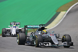 Lewis Hamilton (GBR) Mercedes AMG F1 W07 Hybrid.<br /> 11.11.2016. Formula 1 World Championship, Rd 20, Brazilian Grand Prix, Sao Paulo, Brazil, Practice Day.<br /> Copyright: Moy / XPB Images / action press