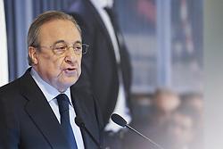 June 14, 2018 - Madrid, Spain - Florentino Perez, President of Real Madrid speaks before announcing Julen Lopetegui as new coach at Santiago Bernabeu Stadium on June 14, 2018 in Madrid, Spain. (Credit Image: © Oscar Gonzalez/NurPhoto via ZUMA Press)